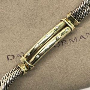 David Yurman Diamond Metro Cable Bracelet